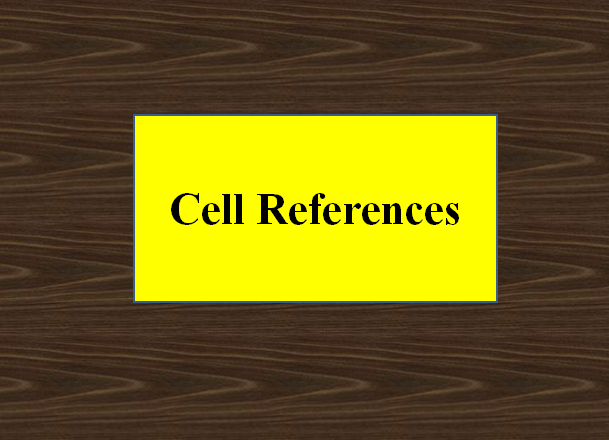 Cell References
